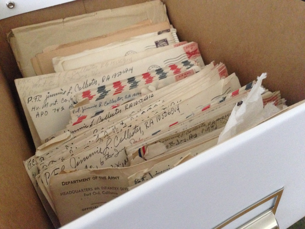 Box of Letters from J. Lee