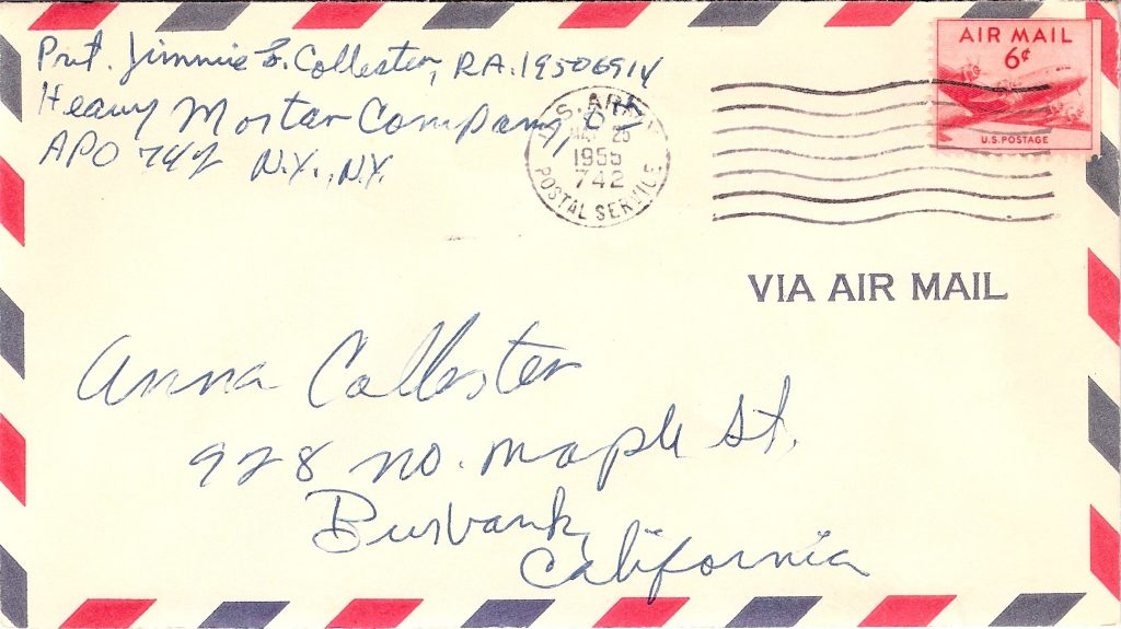 Envelope Postmarked 1955 May 25